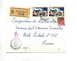 Lettre  Recommandée Maromme Sur Sully - Marcophilie (Lettres)