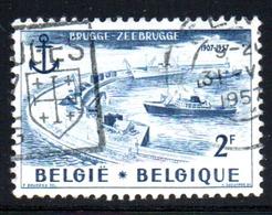 Belgique - N° 1019 - 1957 - Used Stamps