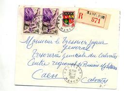 Lettre  Recommandée  Barfleur Sur Kerrata - Marcophilie (Lettres)