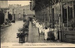 Cp Fontainebleau Seine Et Marne, Hotel De France Et D'Angleterre, A. Dumaine - France
