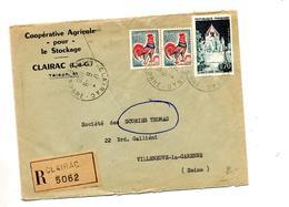 Lettre  Recommandée  Clairac Sur Coq Provins - Marcophilie (Lettres)