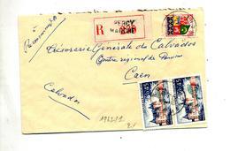 Lettre  Recommandée Percy Manche Sur Sully - Marcophilie (Lettres)