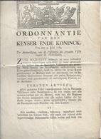 SI/ 71 /   ORDONNANTIE 1783  VISSERIJ DES GEZOUTEN VIS BINNEN DE NEDERLANDEN - Ohne Zuordnung