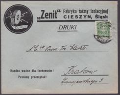 """Lettre Pologne - 1932 - Enveloppe Pub """"Zenit""""  - YT: PL N° 357 - 1919-1939 République"""