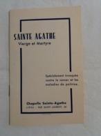 (X2) Sainte Agathe Vierge Et Martyre : Prière Et Lithanie (petit Livret Et Carte Prière) - Saints