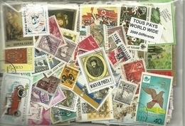 Lot 2000 Timbres Du Monde - Lots & Kiloware (min. 1000 Stück)