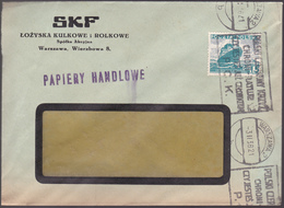 """Lettre Pologne - 1936 - Enveloppe Pub """"SKF""""  - Michel: PL N° 30 - 1919-1939 République"""
