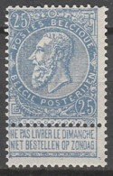 Belgie  .   OBP  .    60-V     .    **    .  Postfris  .   /   .  Neuf SANS Charniere - 1893-1900 Barba Corta