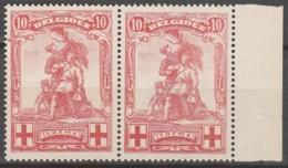 Belgie  .   OBP  .    127-V2  Paar    .    **    .  Postfris  .   /   .  Neuf SANS Charniere - 1914-1915 Red Cross