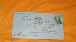 LETTRE LAC ANCIENNE DE 1870...ETS DE CHAPEAUX A FONTENAY LE COMTE POUR ANGERS..OBLITERATION GC..+ TIMBRE NAP. POINT BOUT - Marcophilie (Lettres)