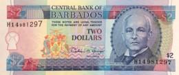 Barbados 2 Dollars, P-46 (1995) - UNC - Barbados