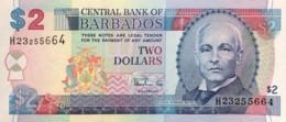 Barbados 2 Dollars, P-54b (1999) - UNC - Barbados