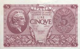 Italy 5 Lire, P-31c (23.11.1944) - UNC - [ 1] …-1946: Königreich