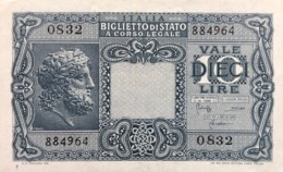 Italy 10 Lire, P-32c (23.11.1944) - UNC - Italia – 10 Lire