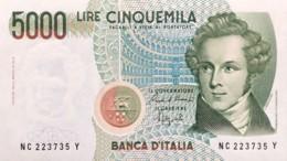 Italy 5.000 Lire, P-111b (4.1.1985) - UNC - [ 2] 1946-… : Repubblica