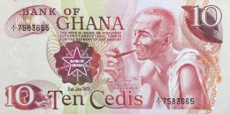 Ghana 10 Cedis, P-16f (2.1.1978) - About Uncirculated - Ghana