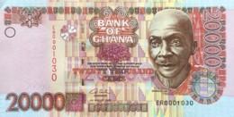 Ghana 20.000 Cedis, P-36b (4.8.2003) - About Uncirculated - LOW SERIAL NUMBER - Ghana