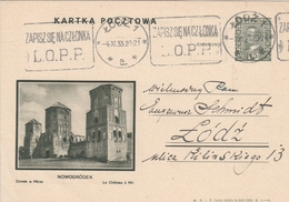 Pologne Entier Postal Illustré Lodz 1933 - Stamped Stationery