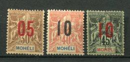 18019 MOHELI N°19/21 */ ° Type Groupe De 1906 Surchargés   1912  B/TB - Ongebruikt