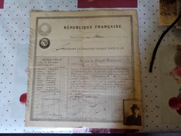Vieux Passeport De 1920 Entre La France Et La Suisse - Vieux Papiers