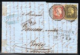 PRUSSE - YT N° 2 + 5 Sur Lettre Complète De 1856 - Prusse