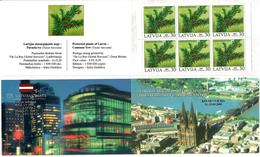 Latvia 2003 .  Kelne 2003. Flora, V:30. Booklet Of 6. Top/bot Imp.   Michel # 588D  MH - Lettonie
