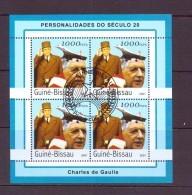 G UINEE-BISSAU 2001 DE GAULLE  YVERT N°1031JL  OBLITERE - De Gaulle (Generaal)