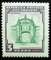 1954 URUGUAY Mnh Puerta De La Ciudadela Citadel Citadelle Zitadelle  Yvert 637 - Uruguay