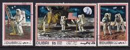 Dubai 1969, Space Complete Set Vfu - Dubai