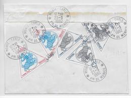 MONACO - 1982 - ENVELOPPE De NICE Avec EMA => MONTE-CARLO Avec TAXE SPECTACULAIRE (TIMBRES PREOBLITERES) - Postmarks