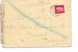 LE 0834. N° Mi 788 S/Lettre Censurée De BRUCHSAL. Au Dos GRIFFE Bruchsal/BD - Gemeinschaftslager..vers Bruxelles/ - Allemagne