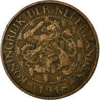 Monnaie, Pays-Bas, Wilhelmina I, Cent, 1918, TB+, Bronze, KM:152 - [ 3] 1815-… : Royaume Des Pays-Bas