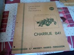 CATALOGUE DE PIÈCES DE RECHANGE  CHARRUE 841 - Tracteurs