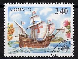Europa CEPT 1992 Monaco Y&T N°1826 - Michel N°2071 (o) - 3,40f EUROPA - Europa-CEPT