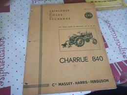 CATALOGUE DE PIÈCES DE RECHANGE CHARRUE DE 840 - Tracteurs