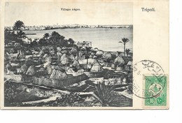 "LE 0835. N° Yv. 155 Obl. TRIPOLI S/CP ""Village Nègre - Tripoli"" Vers Gand (B) - 1858-1921 Empire Ottoman"