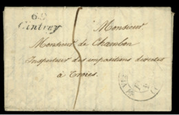 HAUTE SAONE - LAC - Cursive 69 Cintrey + Tàd T12 Vesoul (1831) + Taxe 5 Pour Troyes (9) - Marcophilie (Lettres)