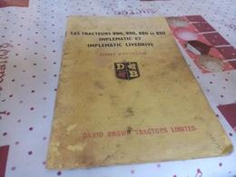 2 LIVRES DAVID BROWN-GUIDE DE CONDUITE ET LIVRET D'ENTRETIEN 990,950,880,850 - Tractors
