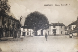Cartolina - Grugliasco - Piazza Umberto I - 1914 - Italie