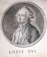 Stampa D'epoca - Louis XVI - Luigi XVI Di Francia Re Di Francia - Secolo XIX - Prints & Engravings