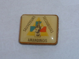 Pin's SAUVETEURS SECOURISTES AMANDINOIS - Brandweerman