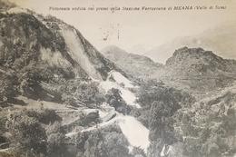 Cartolina - Pittoresca - Veduta Dai Pressi Della Stazione Ferroviaria Meana 1931 - Italie