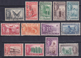 SARAWAK 1950, SG# 171-183, Butterflies, Animals, Used - Sarawak (...-1963)