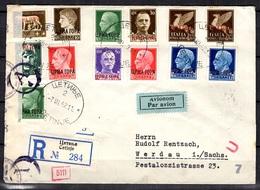 Montenegro/Occupation Italienne Belle Lettre Recommandée Entière De 1942. Censure Allemande. Rare! B/TB. A Saisir! - German Occ.: Montenegro