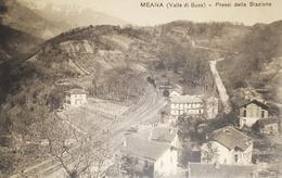 Cartolina - Meana ( Valle Di Susa ) - Pressi Della Stazione - 1912 - Italie