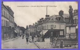 Carte Postale 60. Liancourt  Un Coin De La Place Et Rue Victor Hugo  Très Beau Plan - Liancourt