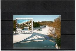 Latvia 2003 .   Bridges 2003 (Sigulda). S/S: 100.    Michel #  BL 17 - Lettonie