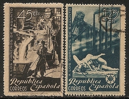 1938-ED. 773 Y 774 SERIE COMPLETA-REPÚBLICA ESPAÑOLA - HOMENAJE A LOS OBREROS DE SAGUNTO- USADO - 1931-50 Usati