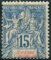 Saint Pierre Et Miquelon (1892) N 64 * (charniere) - Neufs