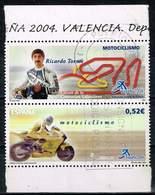 Spanien 2004,Michel# 3964 + Zf O  Philatelic World Exhibition España: Motor Cycle Racing - 1931-Hoy: 2ª República - ... Juan Carlos I